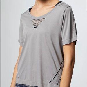 Varley Levinson Luxor cut grey shirt